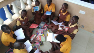 Children studying after school at one of our transition houses